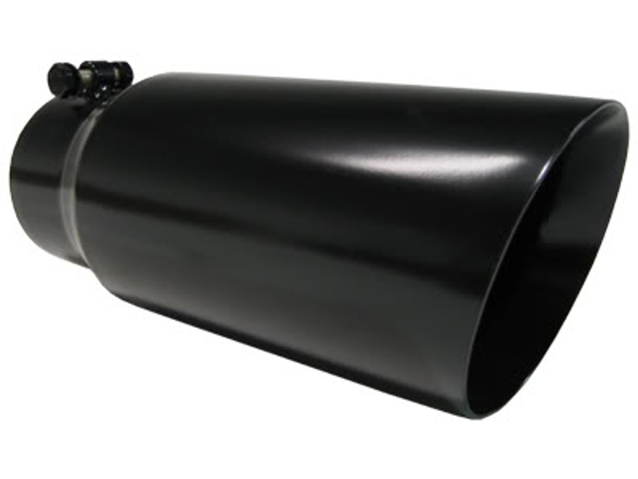 t5053blk mbrp black stainless steel exhaust tip 5 outlet dual walled angled 4 inlet 12 length