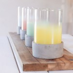 Cement Glass Ombre Candle Holder Pink Bonnie Bell