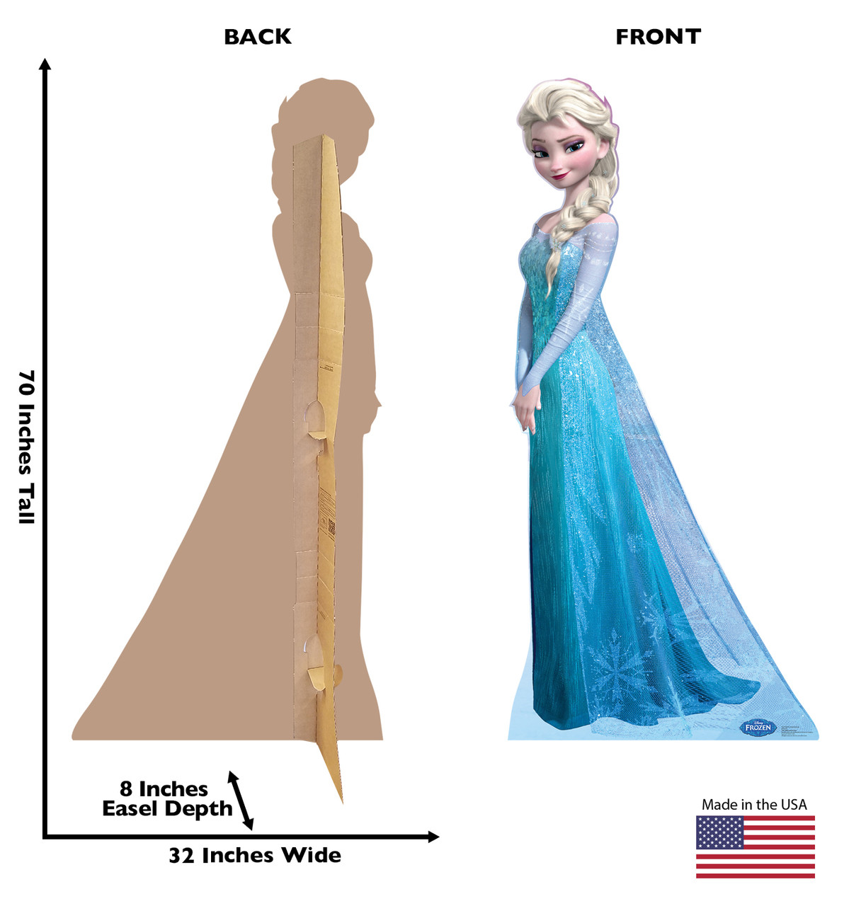 Life-size Snow Queen Elsa - Disney's Frozen Cardboard Standup |Cardboard Cutout