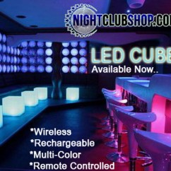 Led Table And Chairs Patio Chair Covers Canada Furniture 16 Cubes Can Be Used As Or Glow Cube Wireless Pool