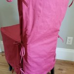 Pottery Barn Side Dining Chair Loose Fit Slipcover Side Tie Cranberry Twill Ugly Company Llc