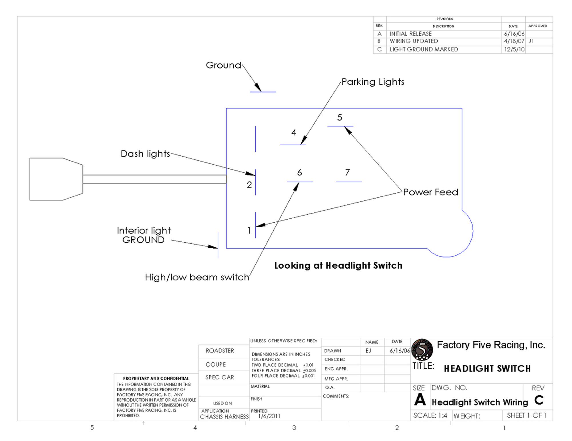 small resolution of  12354 headlight switch 12354 headlight switch