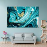 Abstract Blue And Gold Marble