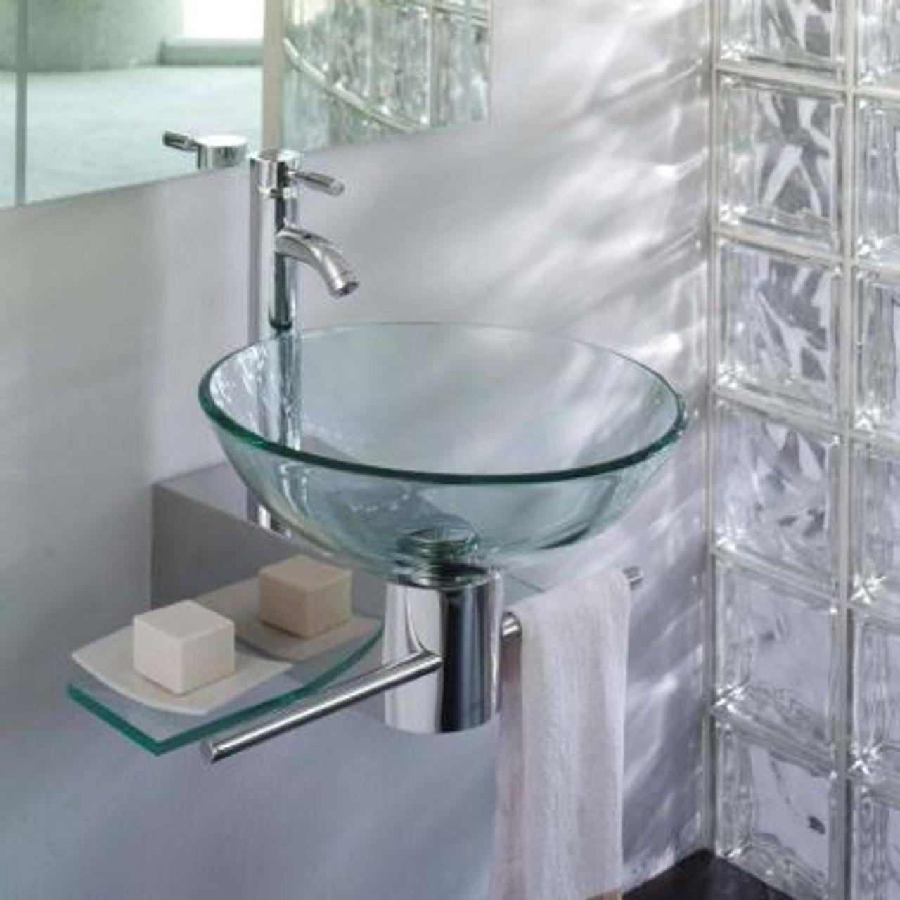 lv 002r lorixon small bathroom vanity glass bowl vessel sink combo set