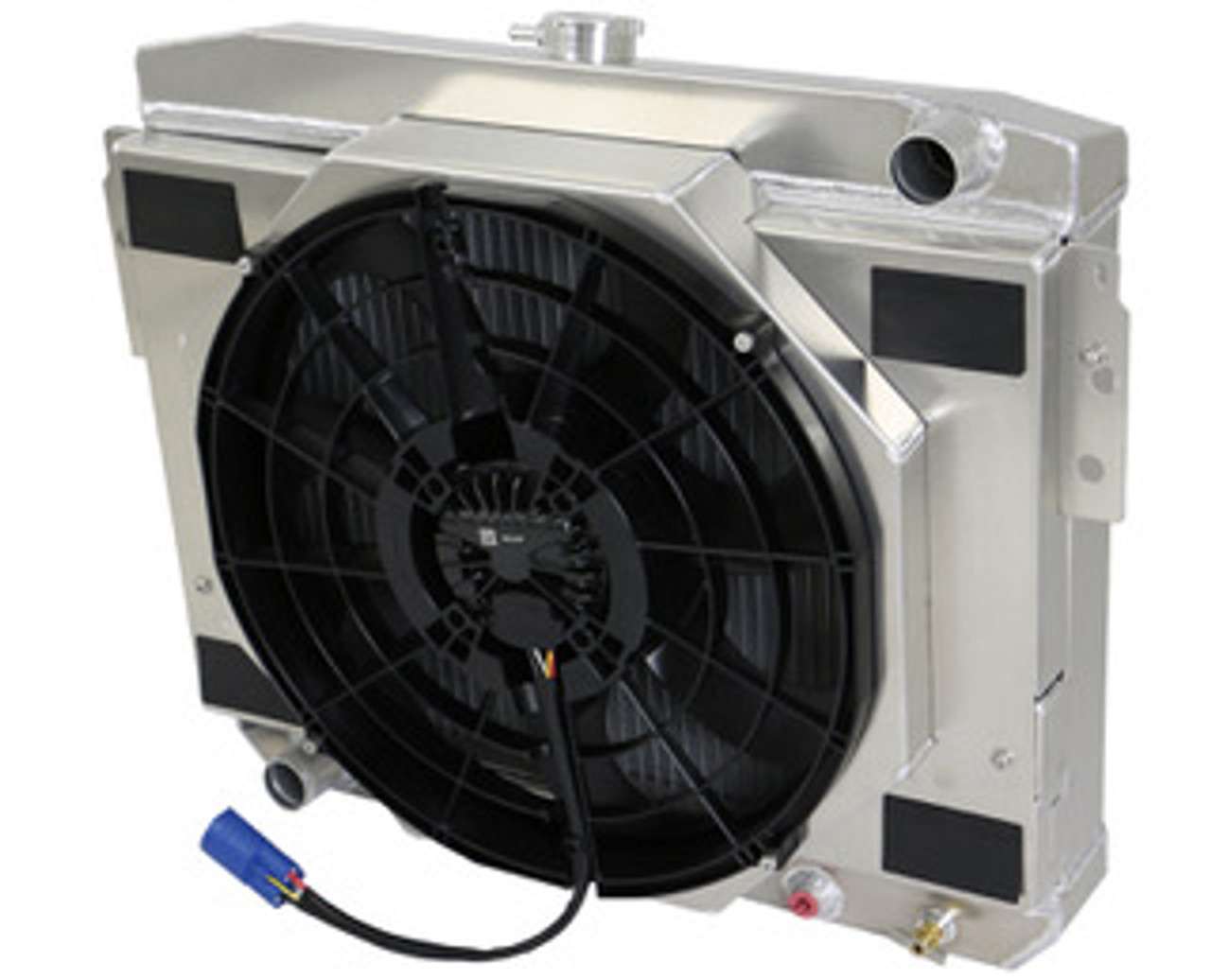small resolution of radiator with brushless fan shroud