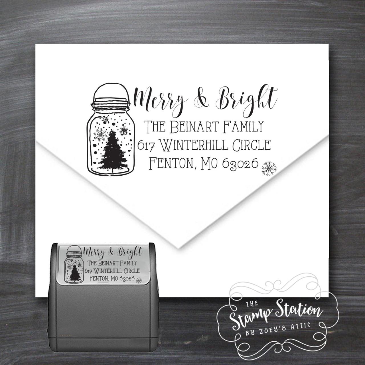 mason jar christmas card