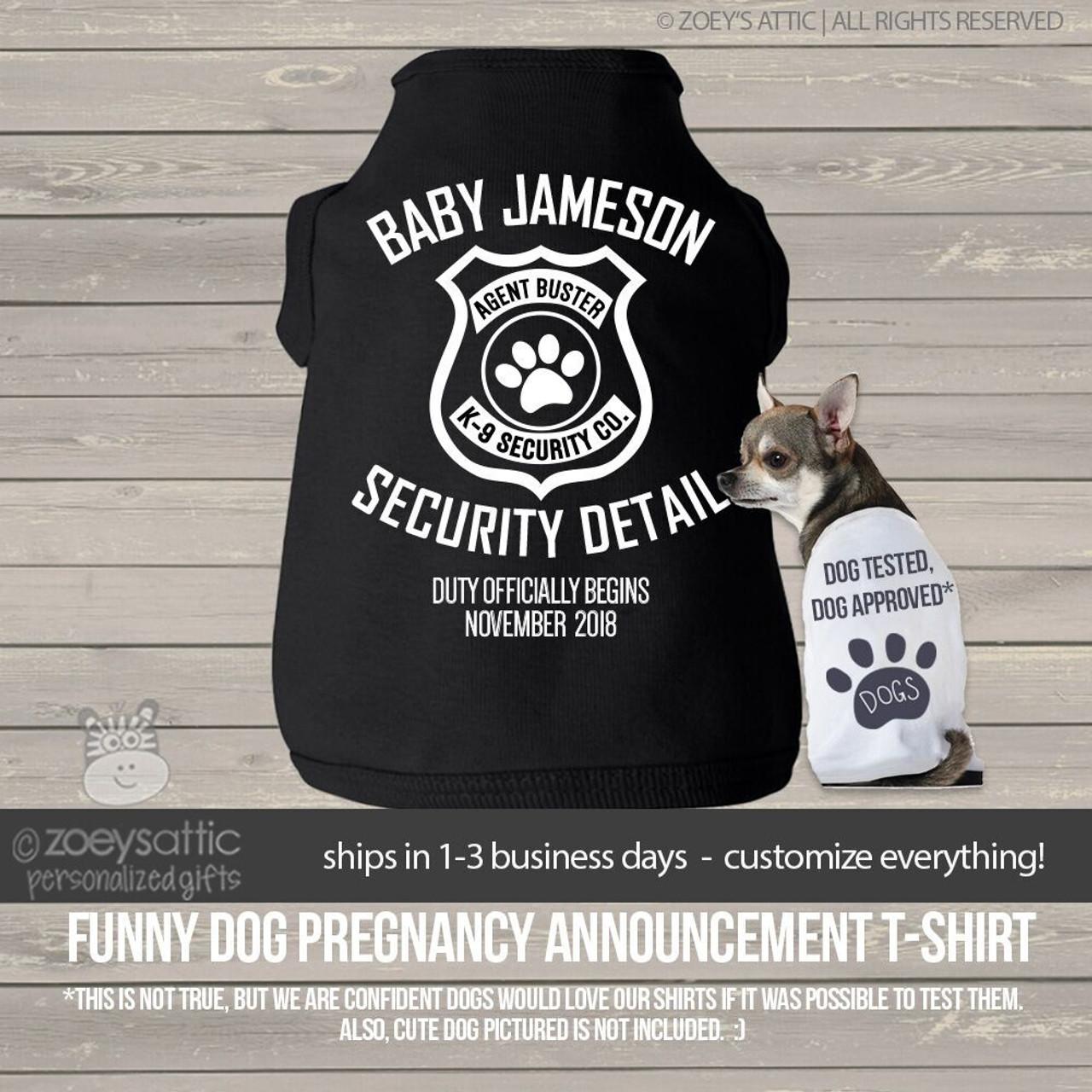 security detail pregnancy announcement