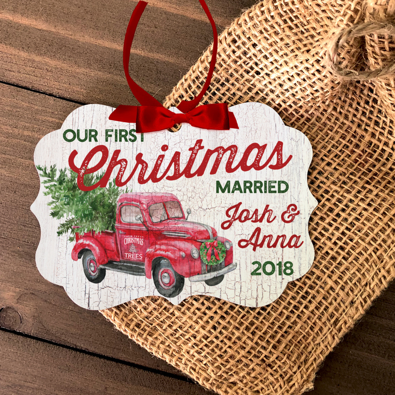 First Christmas Married Ornaments