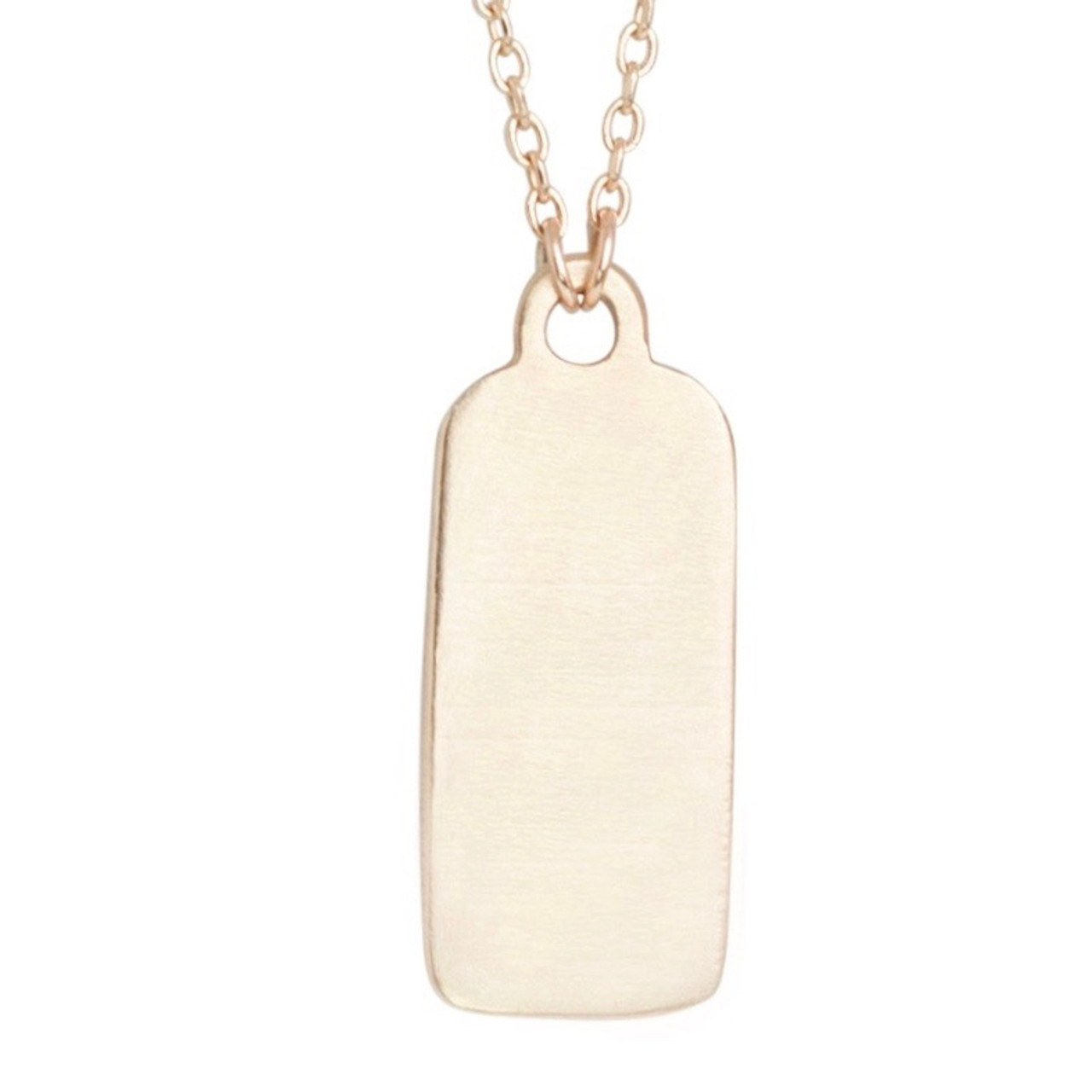 id tag necklace plain