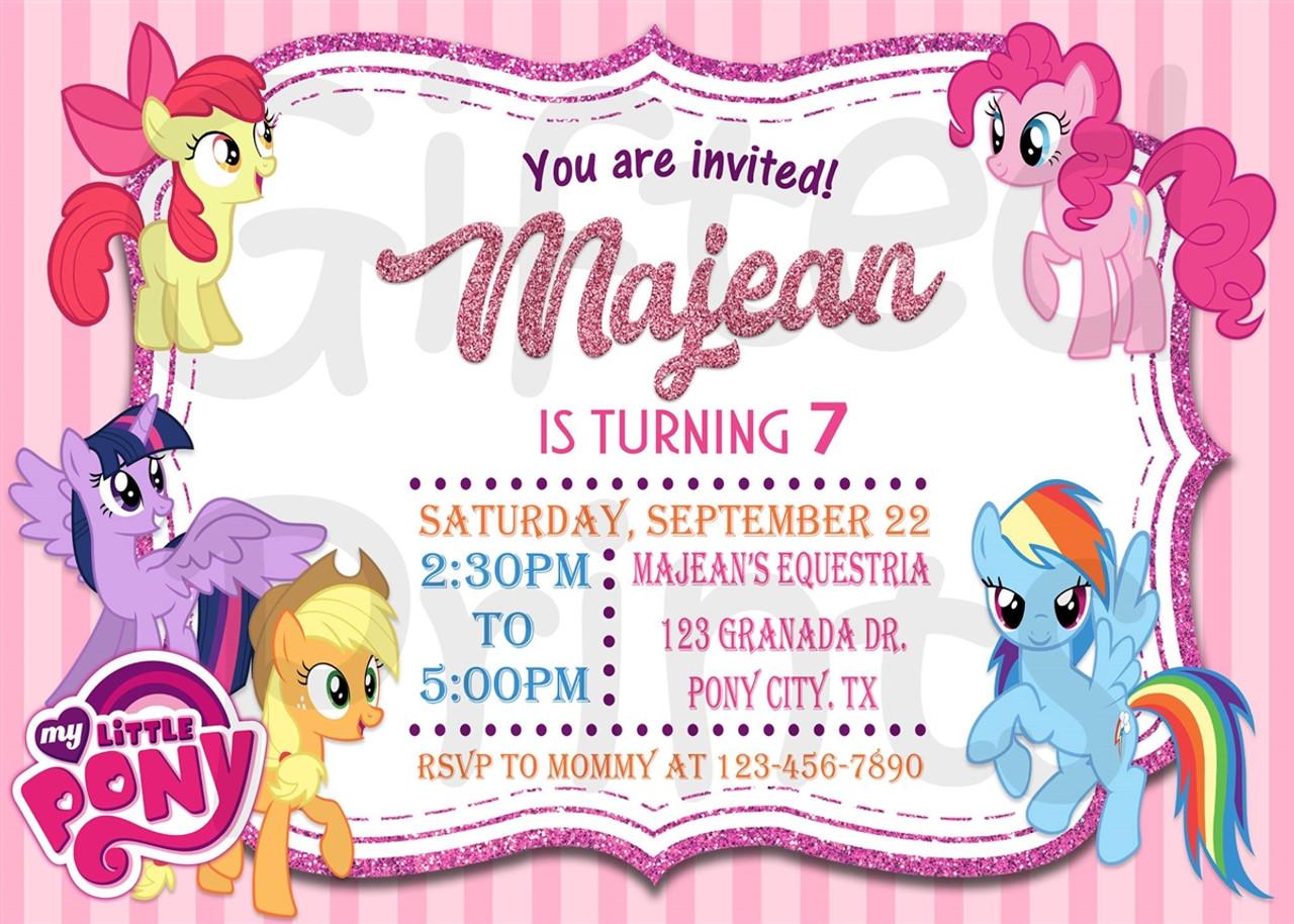 my little pony birthday invitation 1