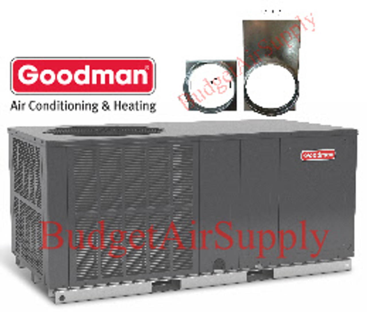 hight resolution of goodman 3 1 2 3 5 ton 14 seer gph1442h41 packaged heat pump a c free adapters budget air supply