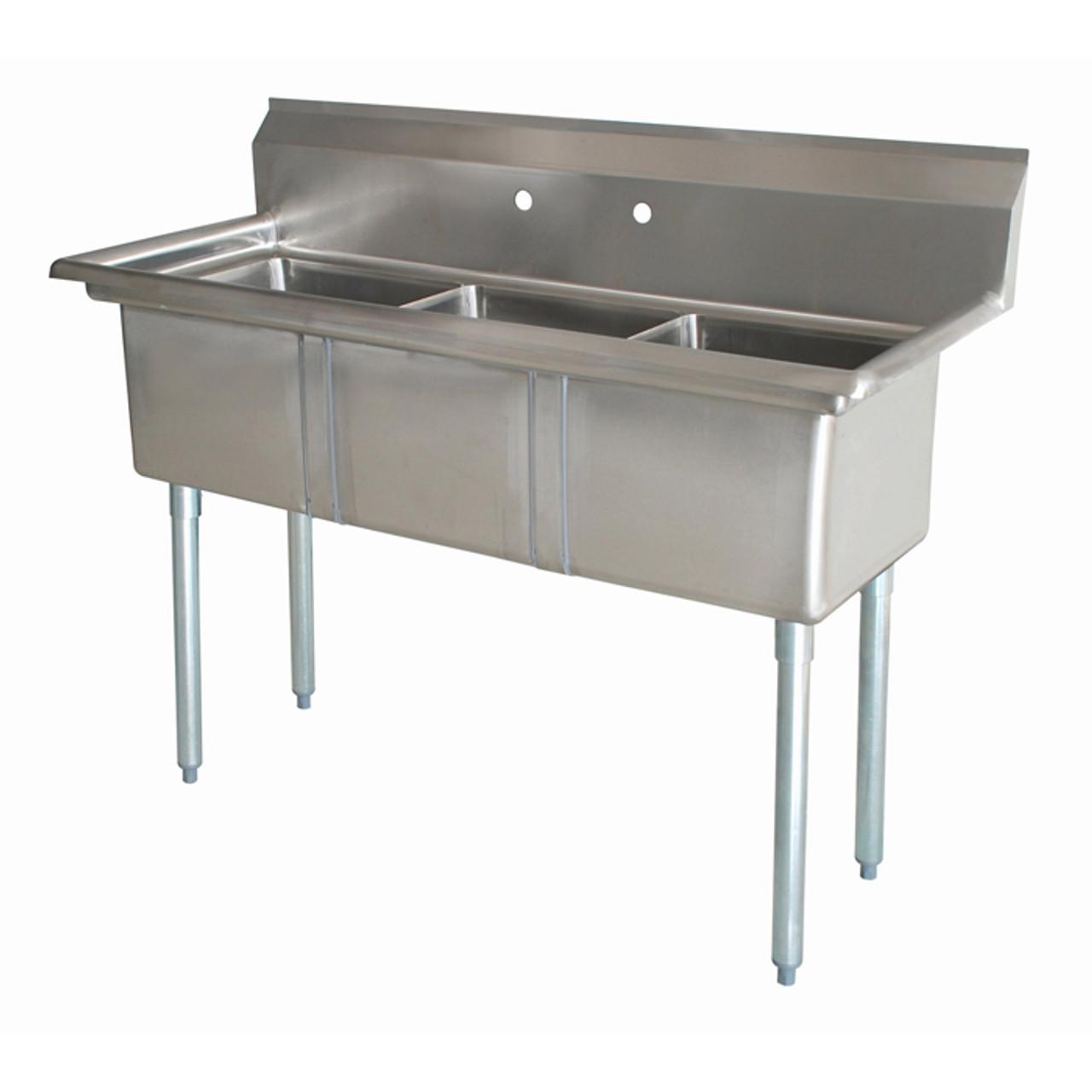 atlantic metalworks 3cs 101410 0 10x14x10 bowl economy 3 compartment sink