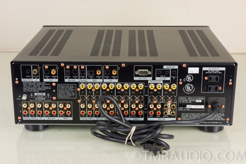 Sony TA-9000ES DSP Preamp / Processor DTS / Dolby Digital - The Music Room