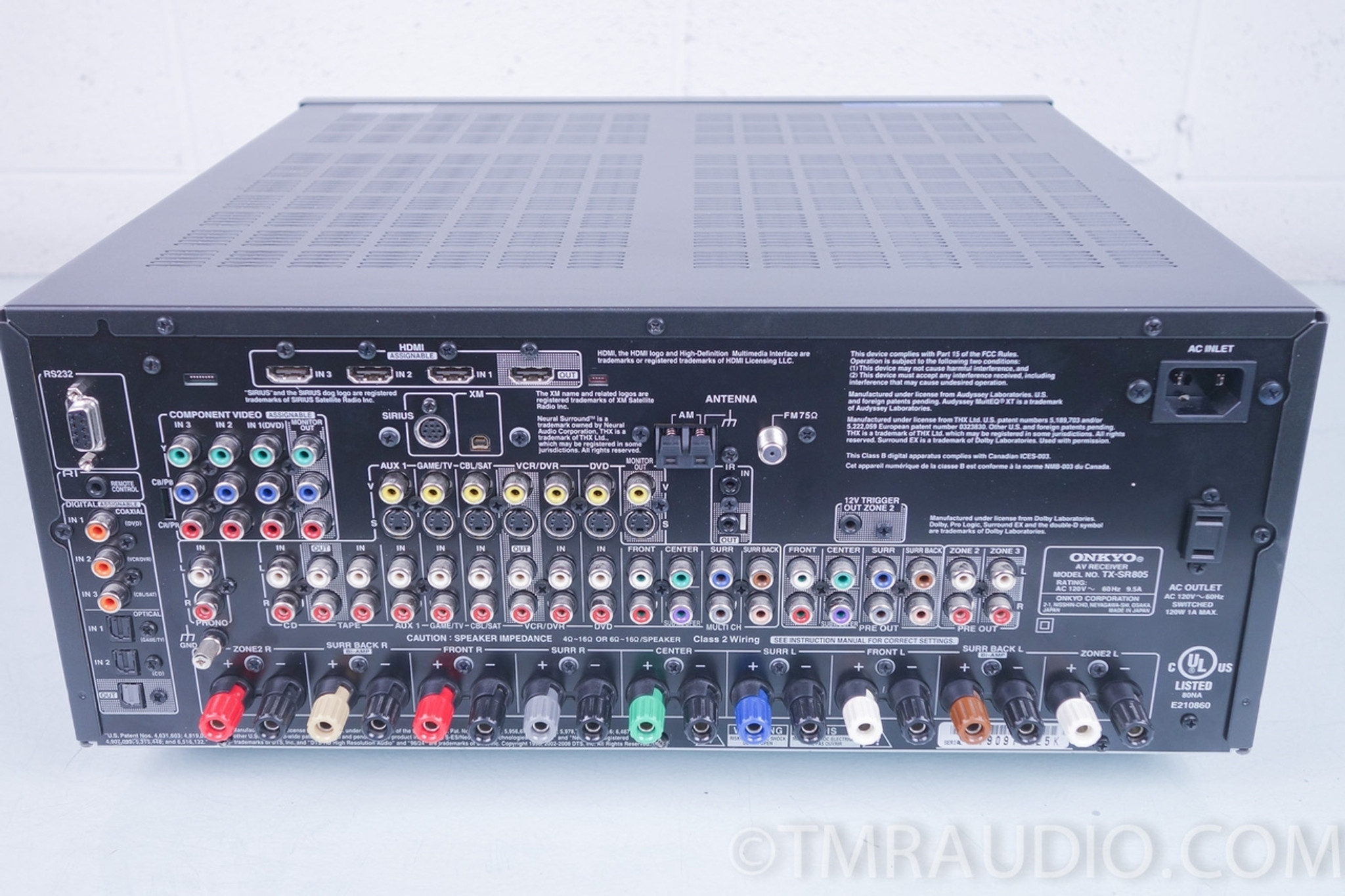 hight resolution of onkyo tx sr805 7 1 channel home theater receiver in factory box