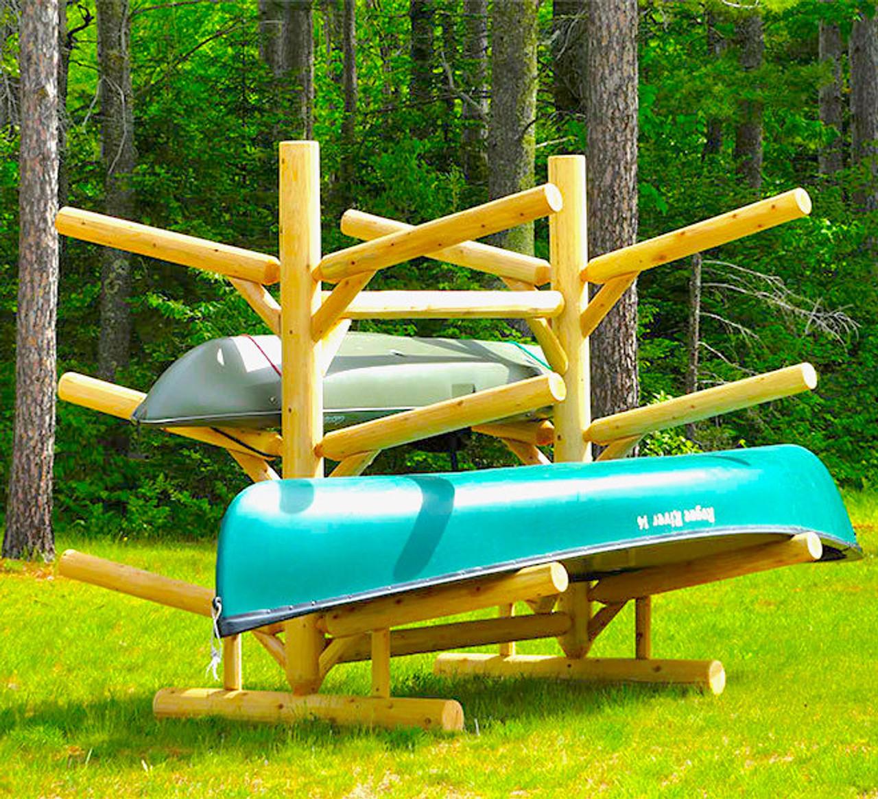 6 sup and kayak storage rack freestanding log rack