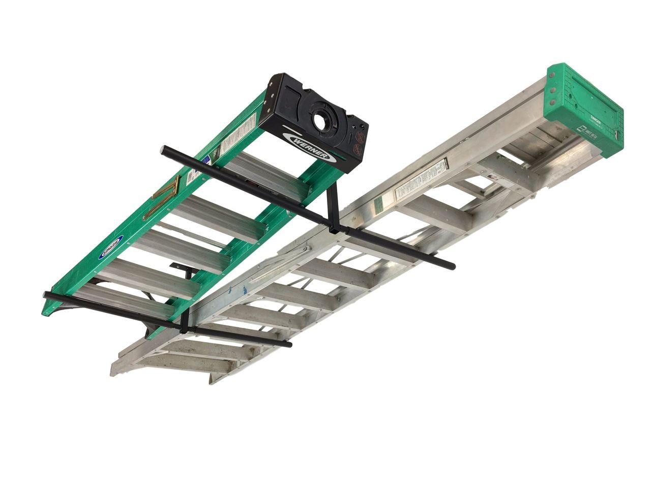 overhead ladder storage rack hi port 2 adjustable ceiling mount