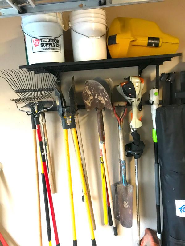 tool storage rack shelf g system garage wall organizer