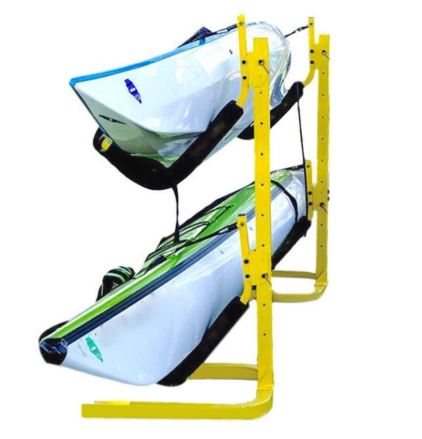 ez freestanding kayak rack holds 2 to 6 kayaks padded cradles