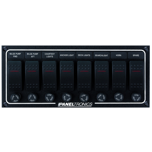 Dc 8 Positions Circuit Breaker Panel 2204 Paneltronics