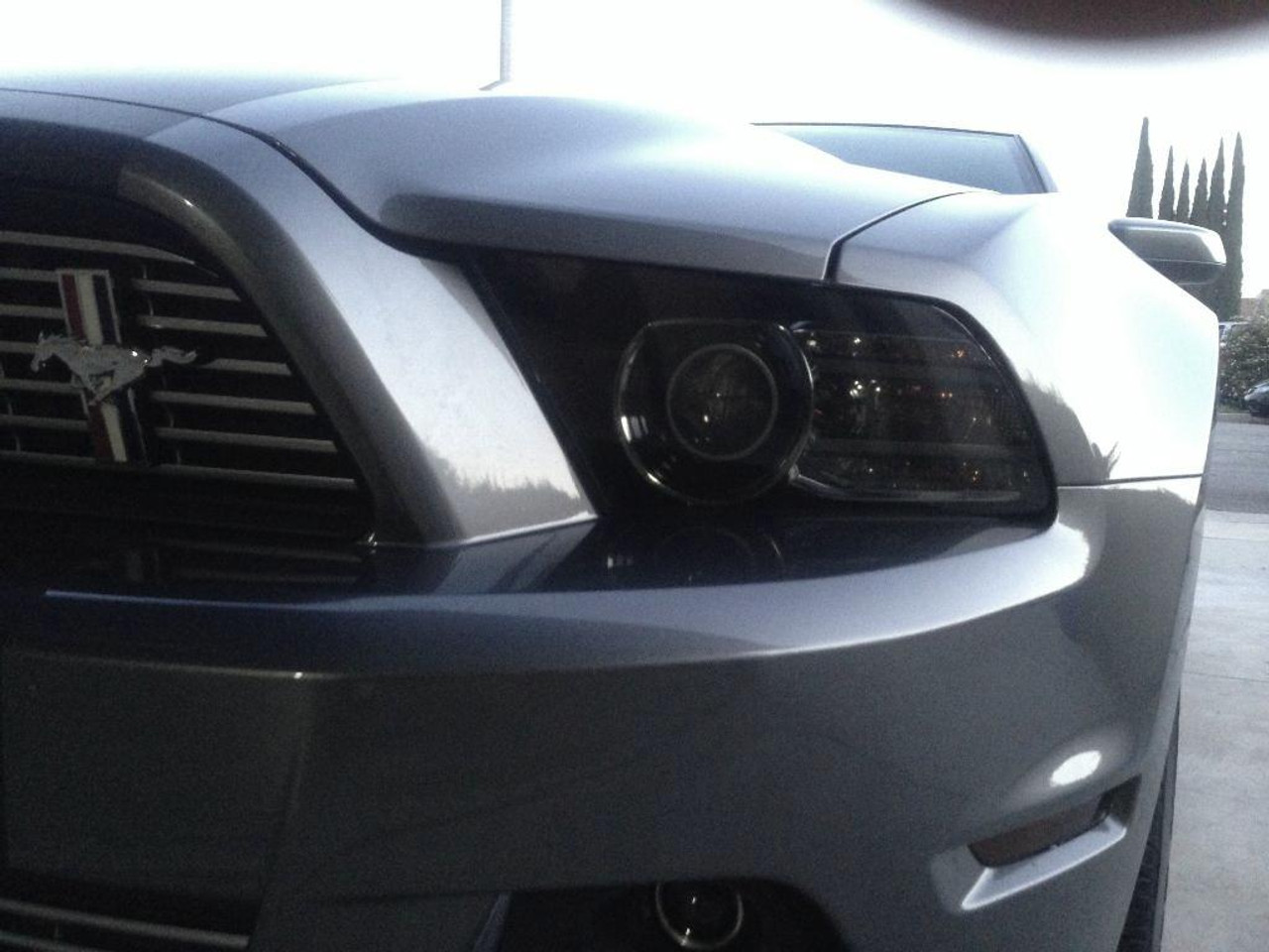 small resolution of  smoked headlight covers 2010 2014 mustang