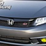 Pre Cut Fog Light Vinyl Overlays 2012 Honda Civic Premium Auto Styling