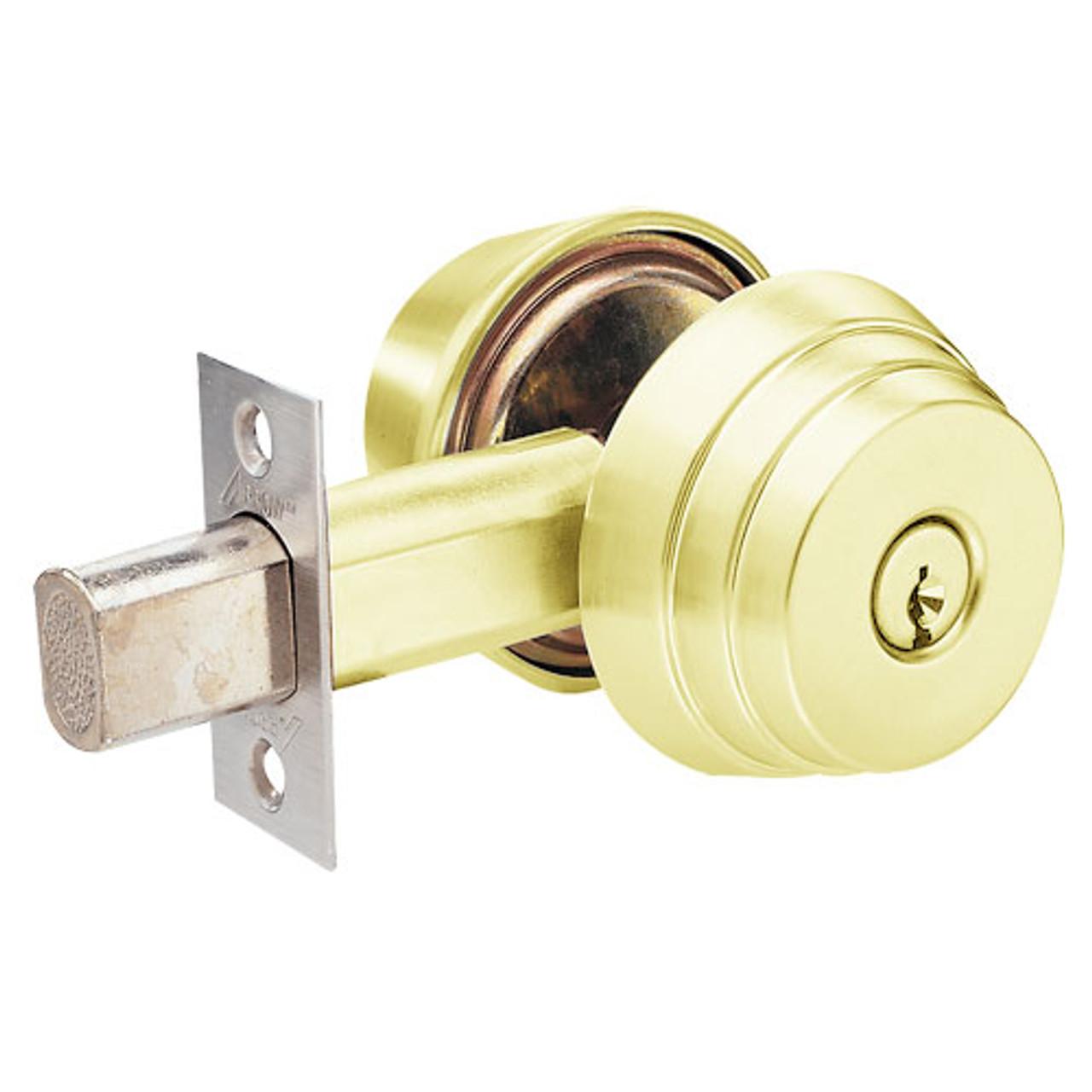 hight resolution of e61 03 arrow lock e series deadbolt in bright brass finish