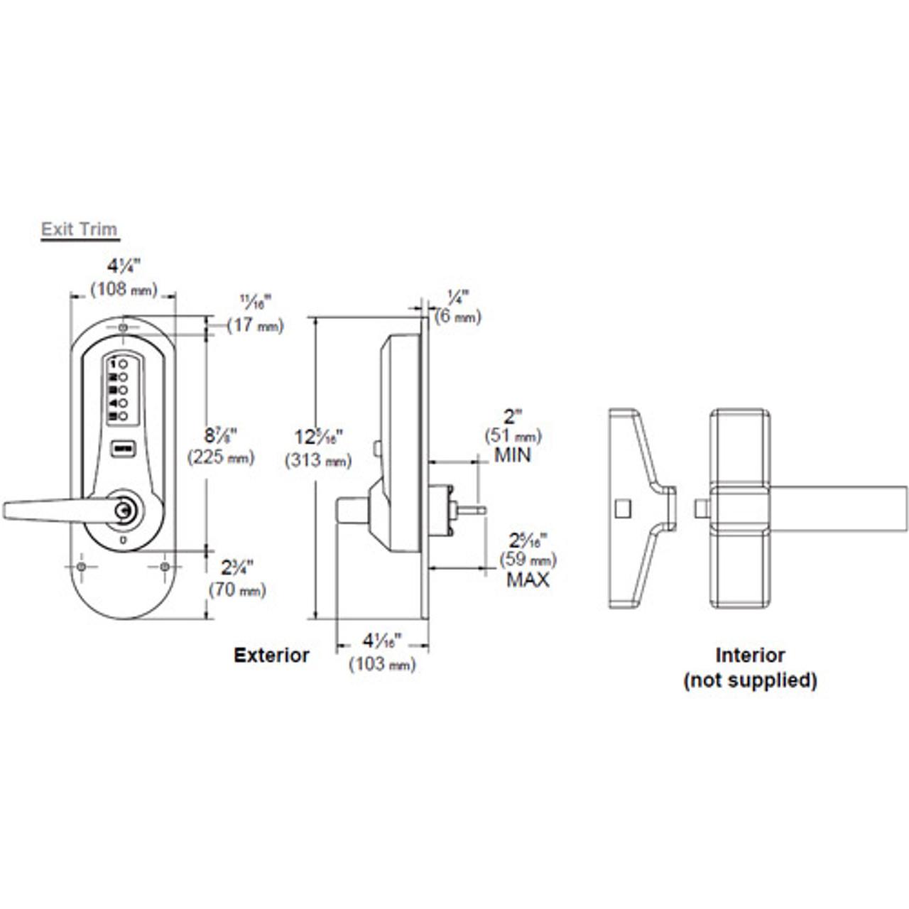 medium resolution of simplex pushbutton with exit trim
