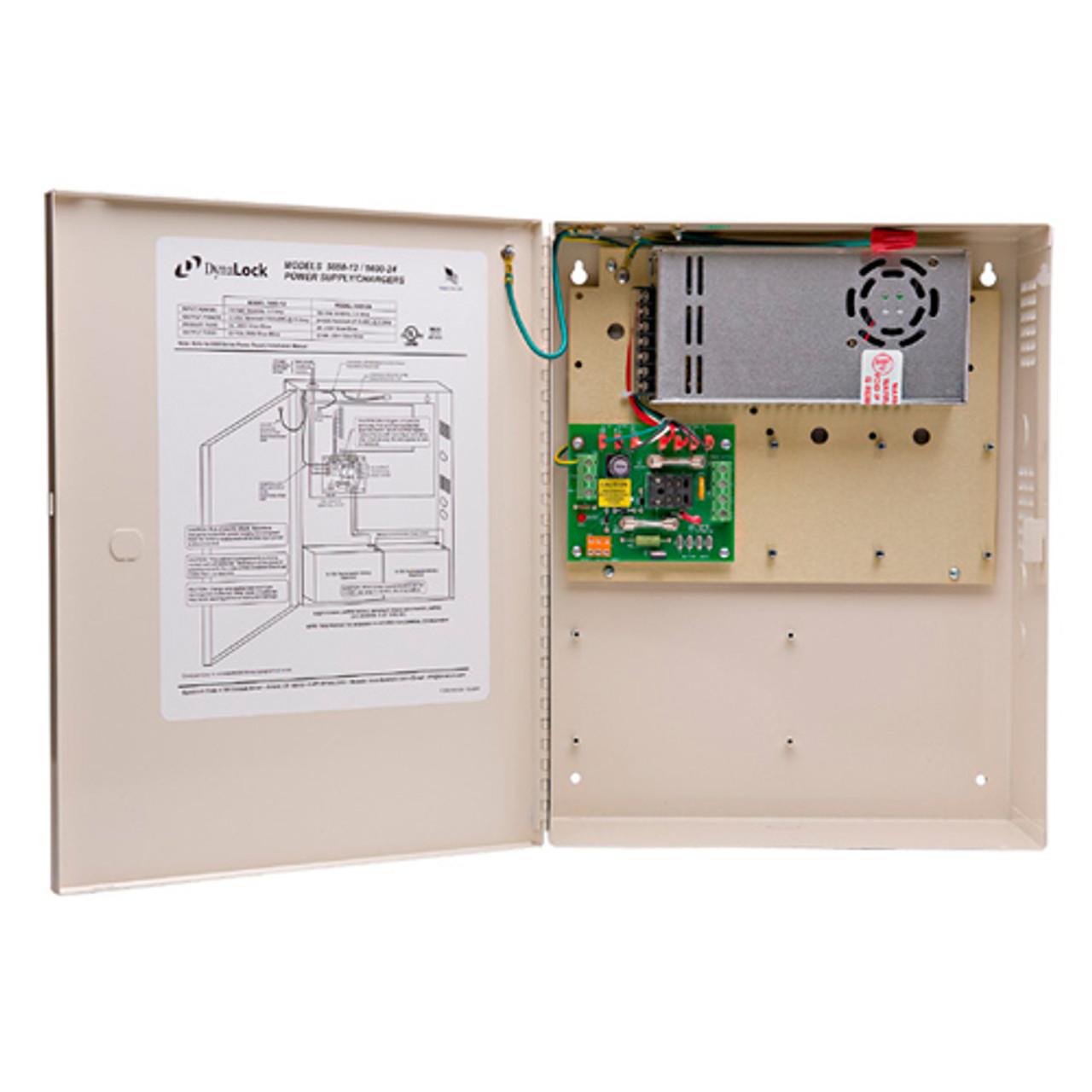 small resolution of 5600 12 ilb dynalock multi zone heavy duty 12 vdc power supply with interlock logic board lock depot inc