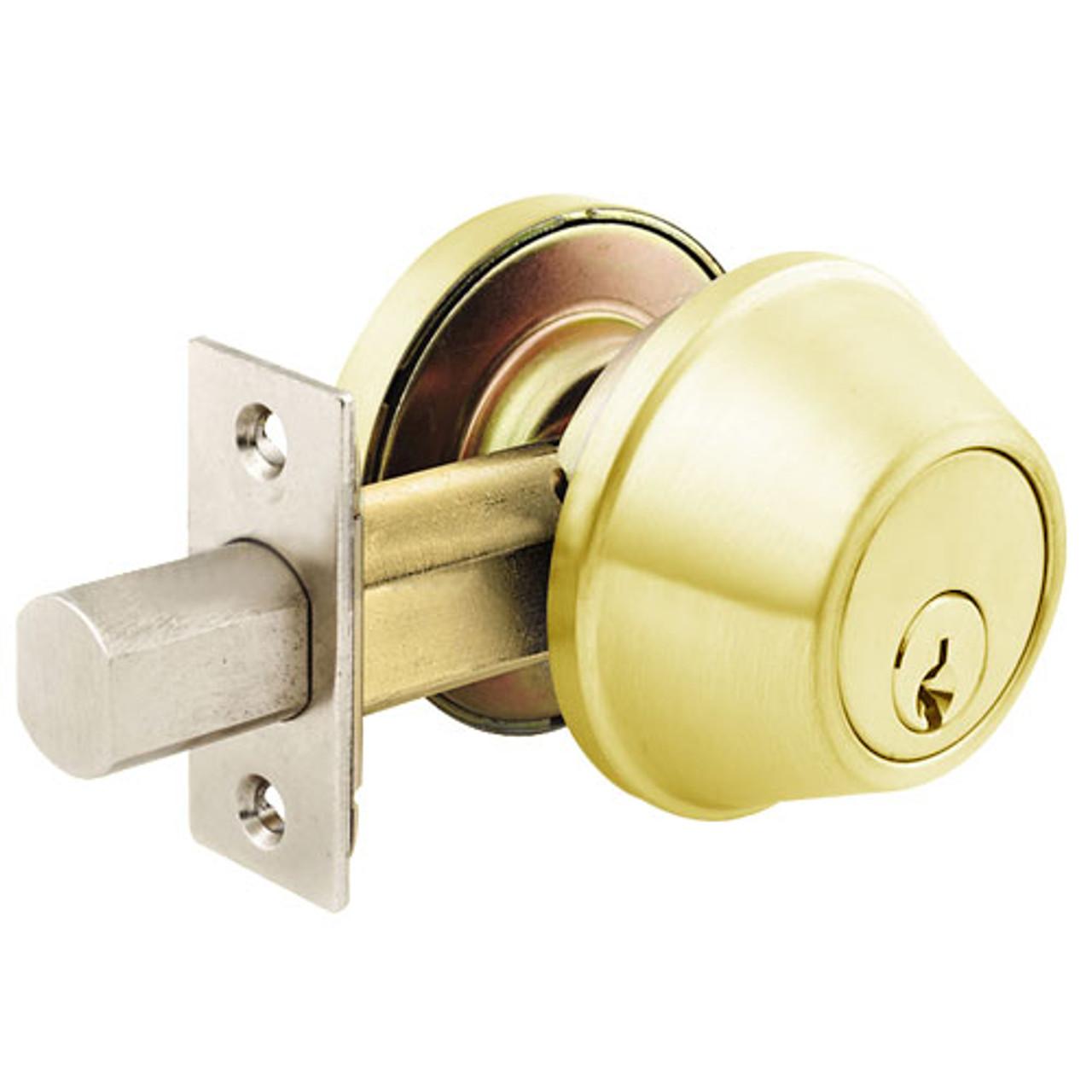 hight resolution of d61 03 arrow lock d series deadbolt in bright brass finish