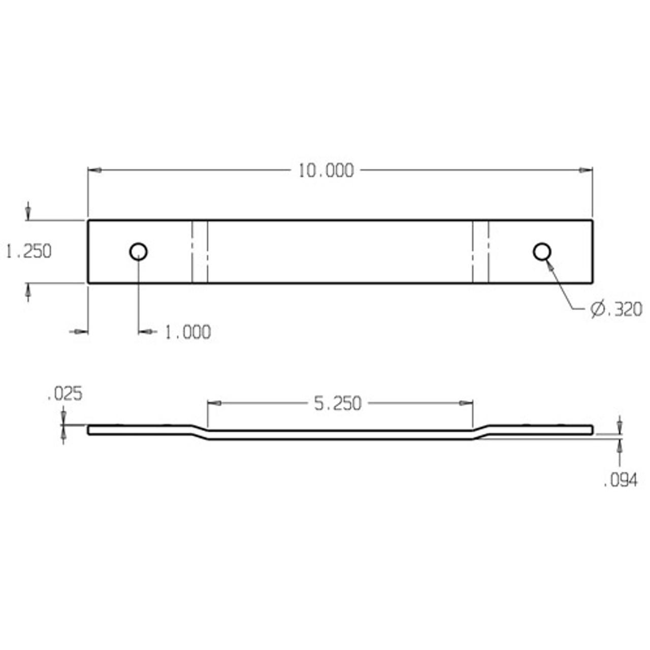 hr 200 4 1 2 don jo blank hinge reinforcement dimensional view [ 1280 x 1280 Pixel ]