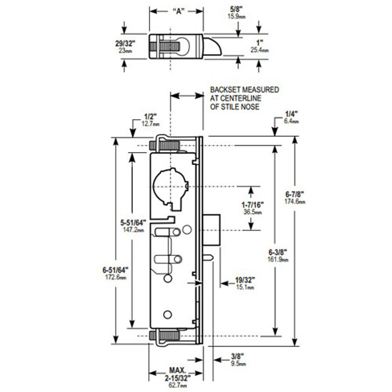 small resolution of 4900 45 201 628 adams rite heavy duty deadlatch dimensional view