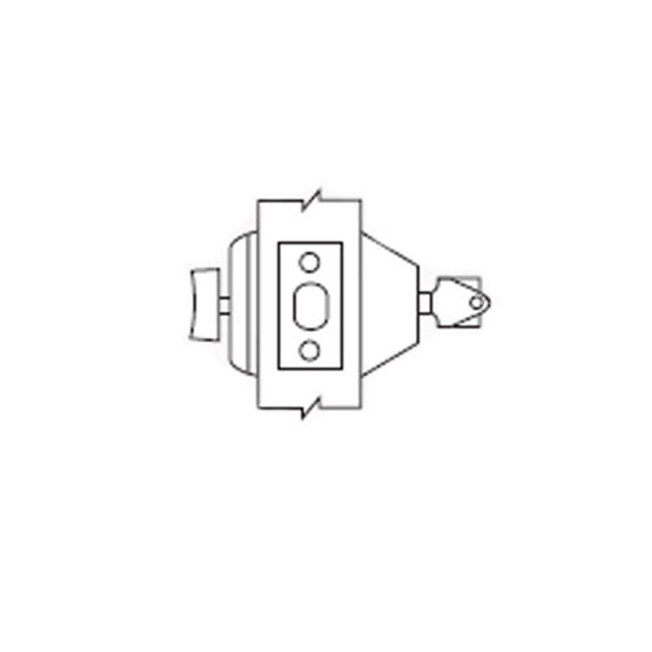 d61 10b arrow lock d series deadbolt single cylinder with thumbturn in dark oxidized satin [ 1280 x 1280 Pixel ]