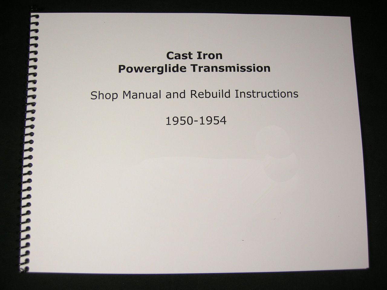 hight resolution of 1950 1954 cast iron powerglide shop manual overhaul rebuild 4l80e transmission diagram 1950 1954 cast
