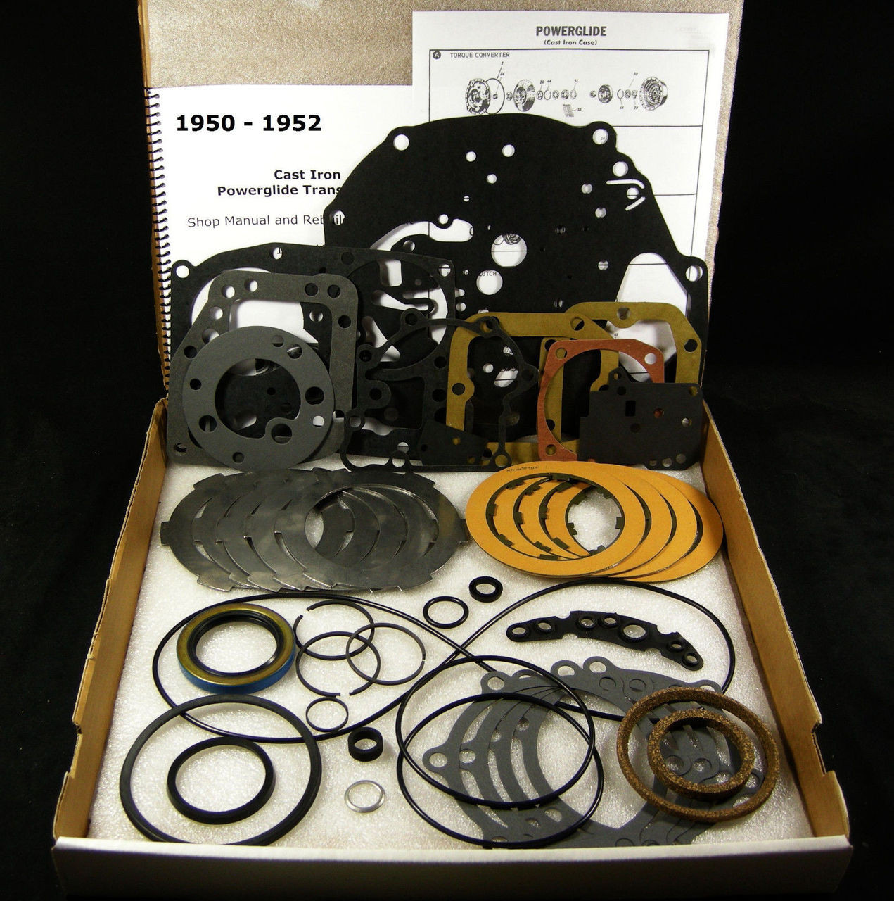 medium resolution of 950 52 cast iron powerglide transmission rebuild overhaul part kit