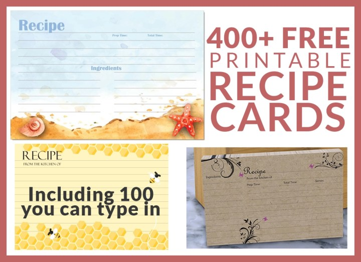 400 free recipe cards that you can print