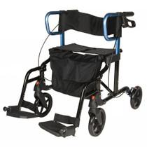walker transport chair in one hugo navigator rail corners rollator australia expert event pcp 5307 swing away foot rests tool free