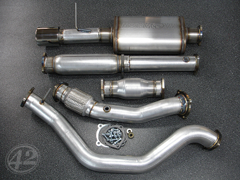 vw mk4 1 8t turbo back exhaust system