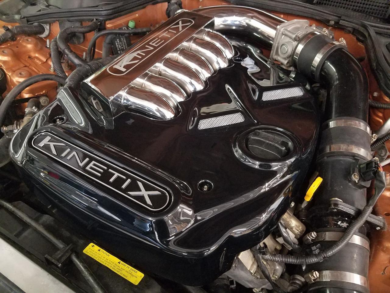 medium resolution of kinetix gloss black polycarbonate engine cover velocity manifold 03 350z parts diagram engine covers
