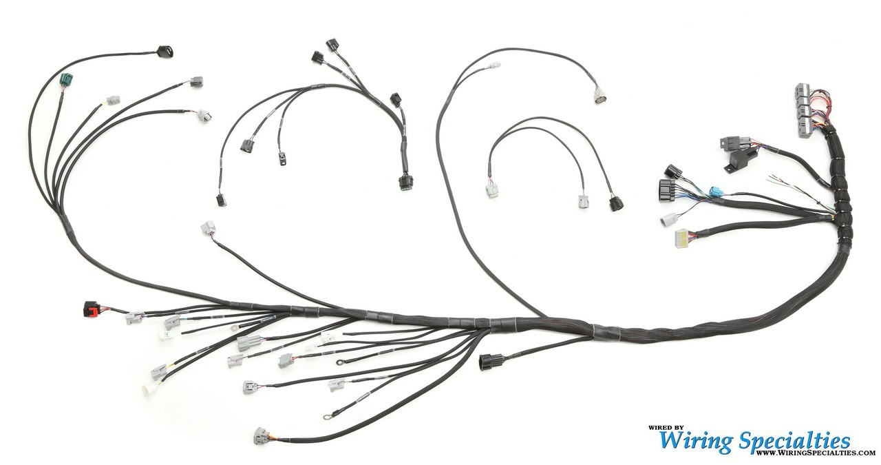wiring specialties 2jzgte vvti pro series wiring harness for mazda rx 7 fd enjuku racing parts llc [ 1280 x 675 Pixel ]