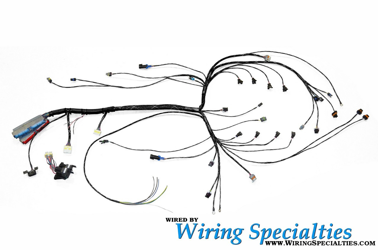 wiring specialties pre made pro ls1 conversion harness combo tucked for nissan 240sx s14 enjuku racing parts llc [ 1280 x 847 Pixel ]