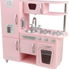 Toy Kitchens Wilson Kitchen Cabinet Hoosier Wooden Play Sale Kidkraft Hape Pink Vintage
