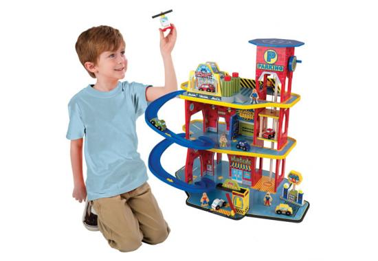 Kidkraft Deluxe Wooden Toy Garage On Sale Now Fast