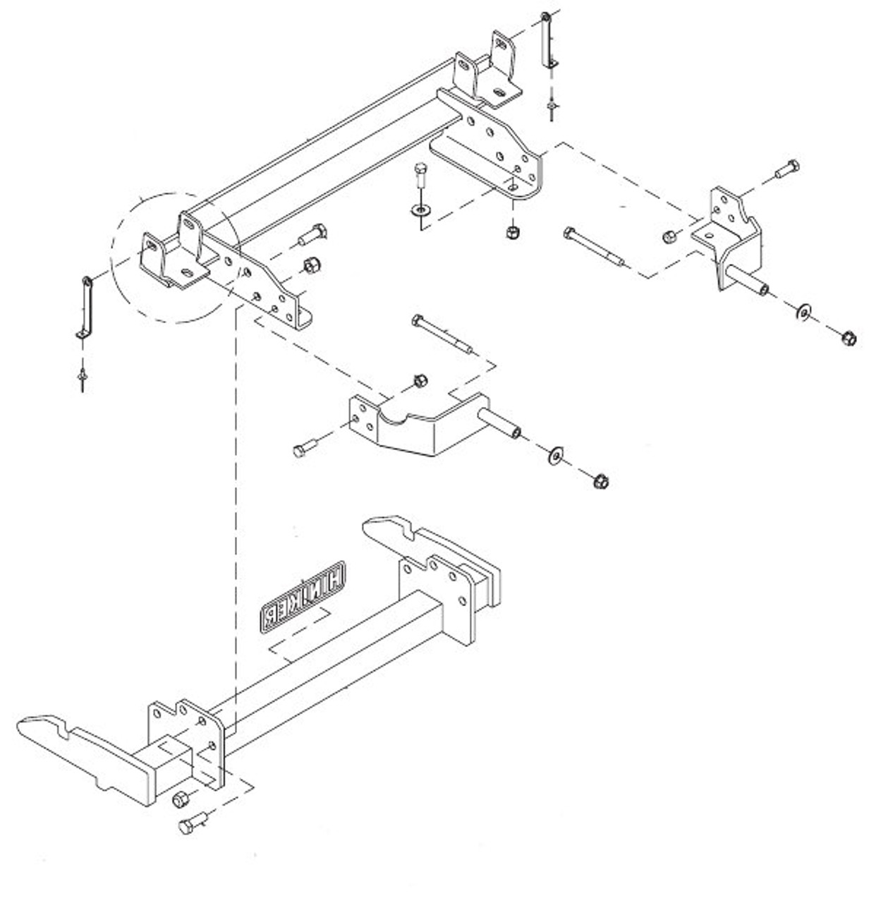 hight resolution of hn25012815 hiniker quick hitch plow mount kit for chevy gmc 2500 3500 croft trailer supply