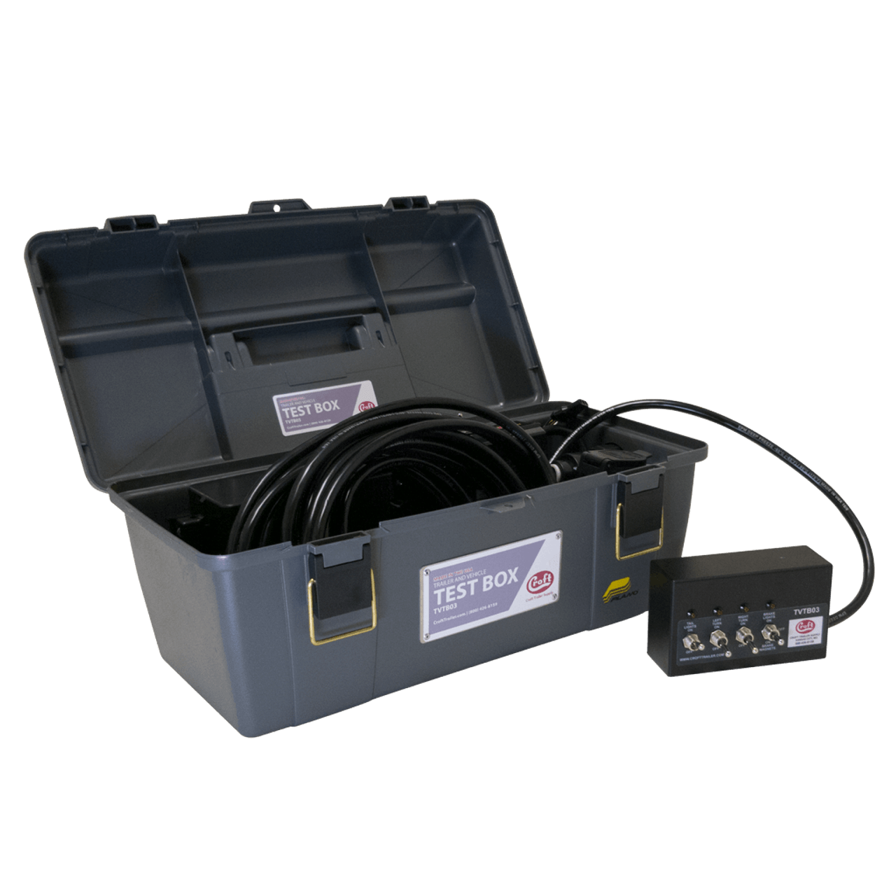 hight resolution of tvtb03 trailer and vehicle test box lights electric brakes and vehicle connector croft trailer supply