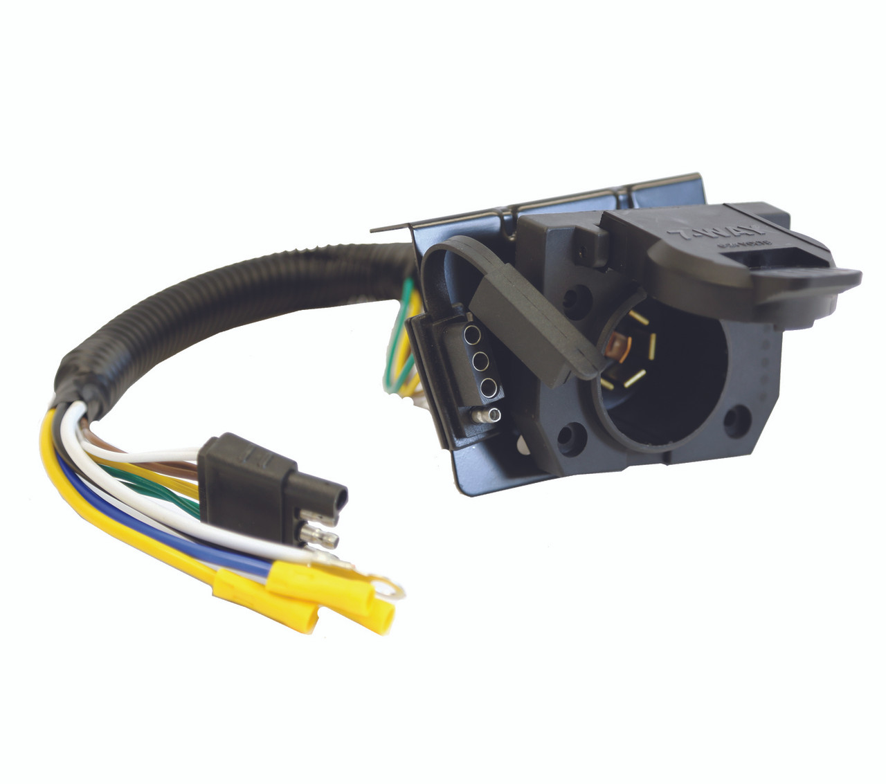 small resolution of 37185 4 prong flat to 4 prong flat and 7 way flat pin adapter croft trailer supply