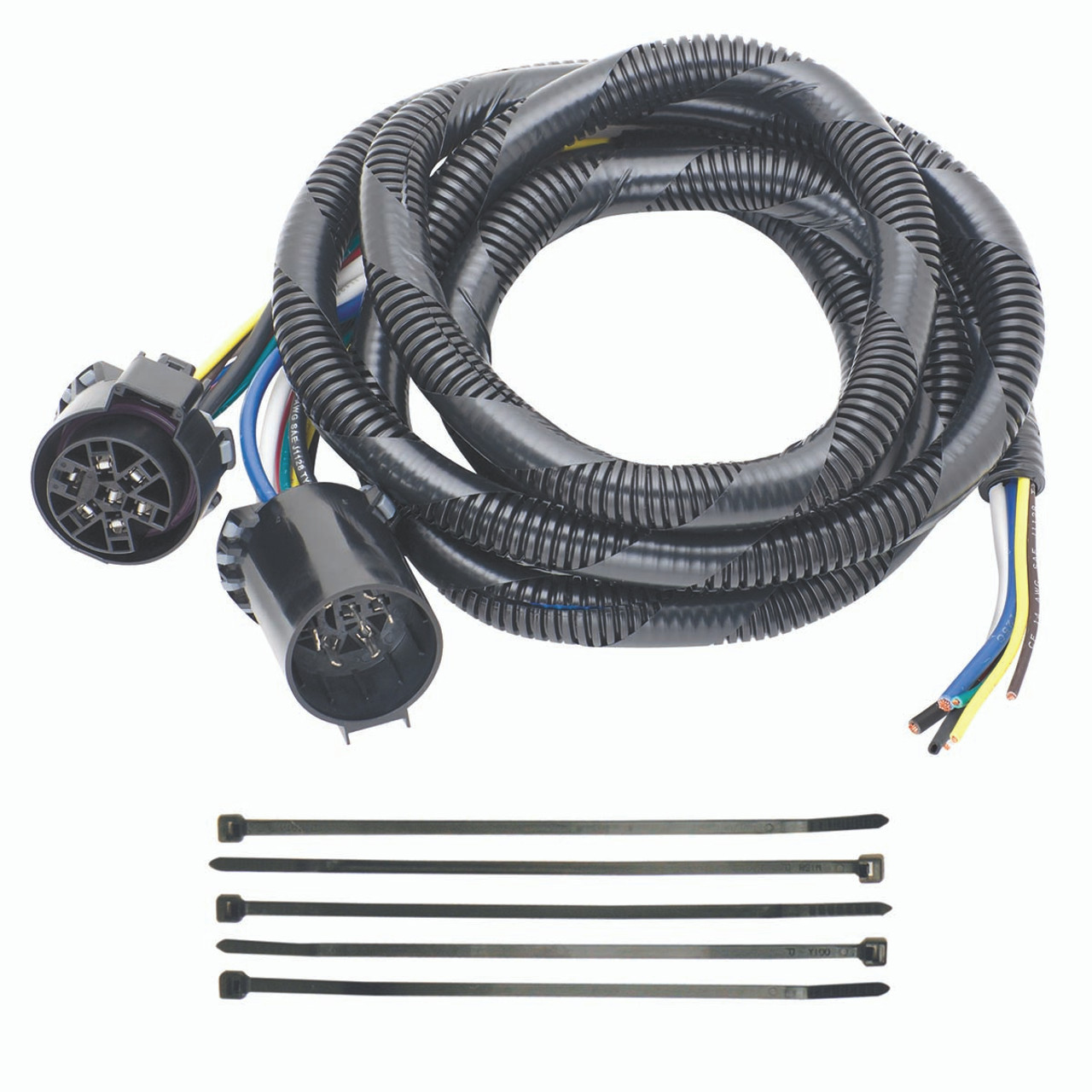 20140 5th wheel adapter harness 7 way flat pin u s car connector assembly 7 with pigtail croft trailer supply [ 1200 x 1200 Pixel ]