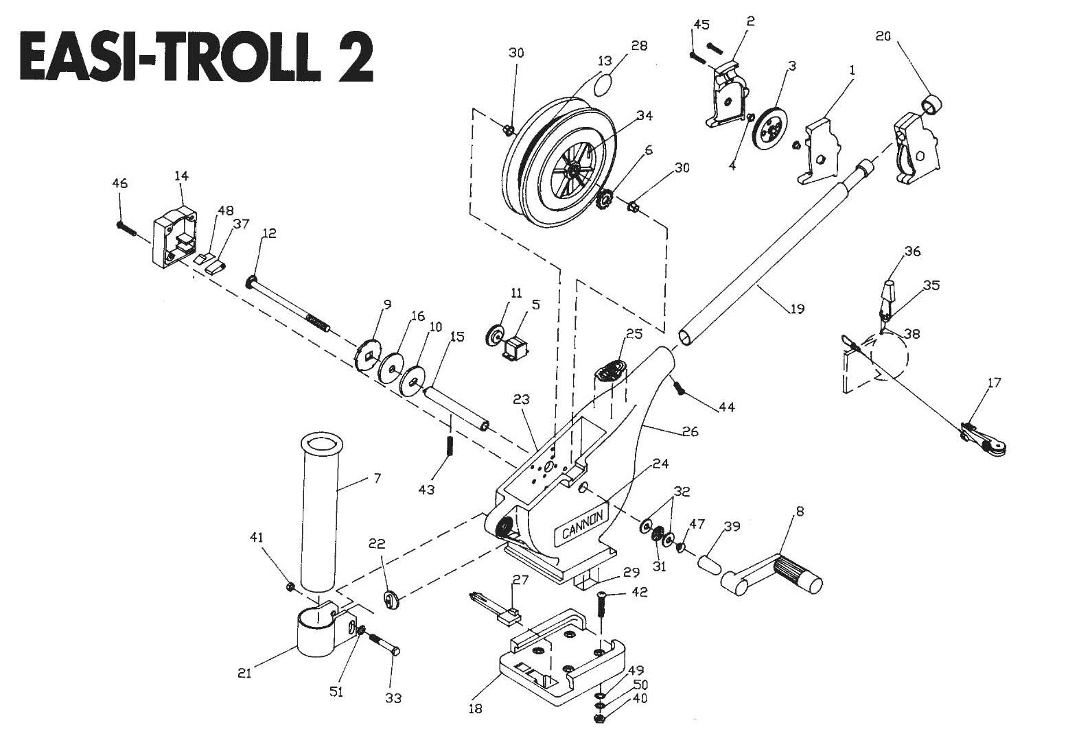 Order Cannon Easi-Troll 2 Downrigger Parts Online at