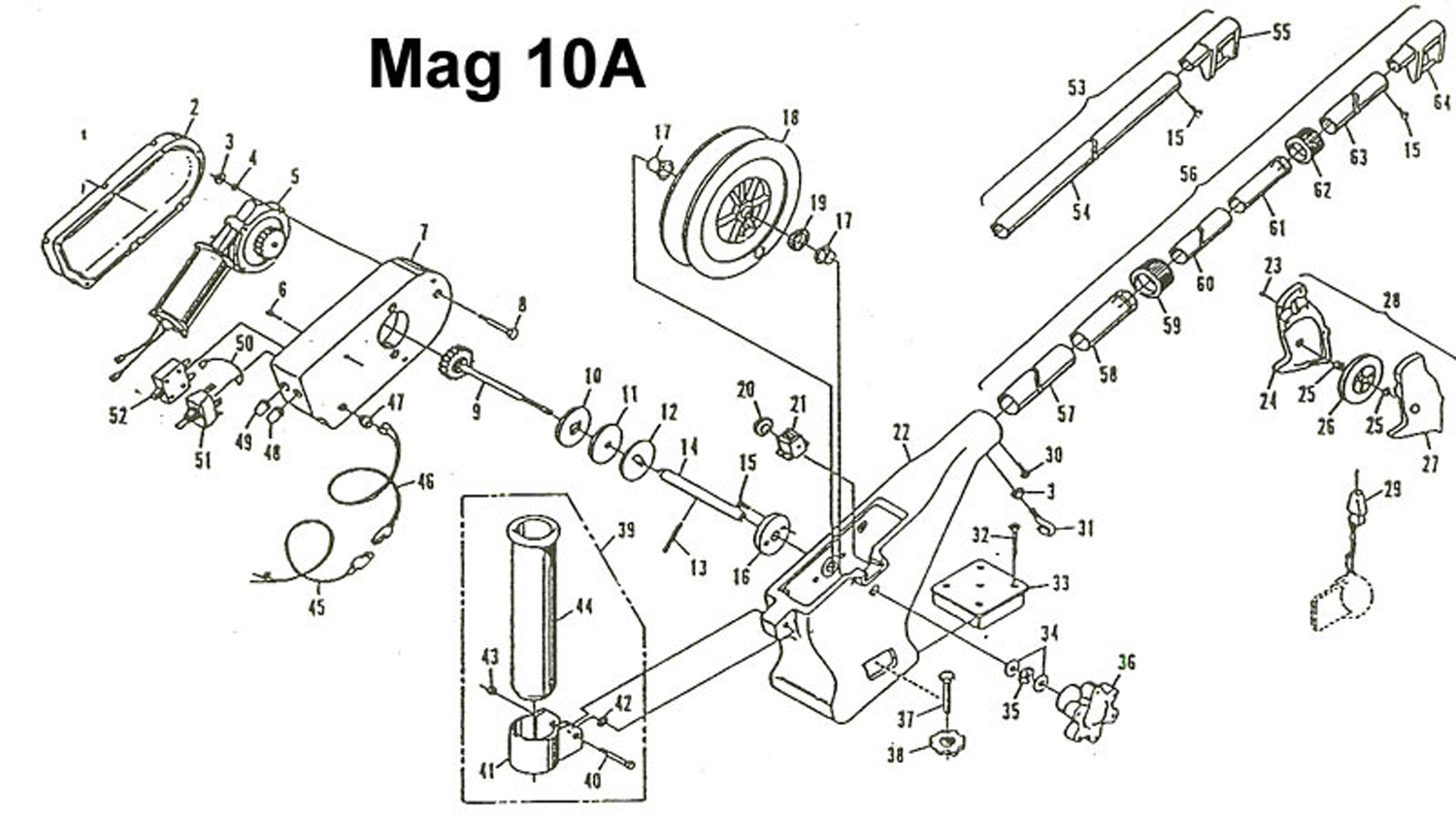 Order Cannon Mag 10a (Pre 2006 Models) electric downrigger