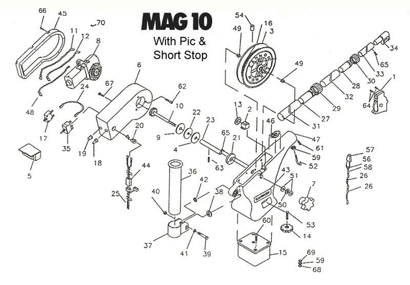 Order Cannon Mag 10 (Pre 2006 Models) electric downrigger