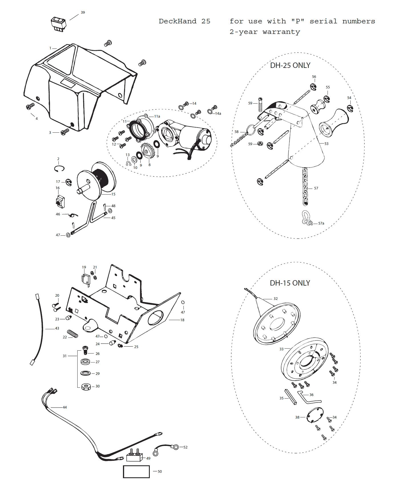 Minn Kota Deckhand 25 Parts